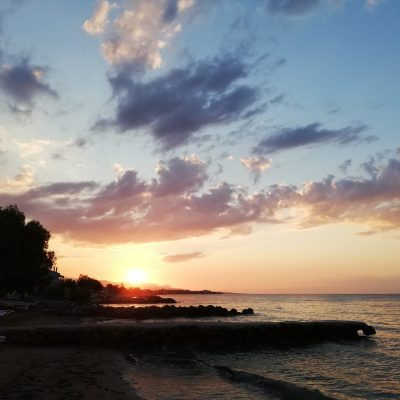 Sonnenuntergang Korinth
